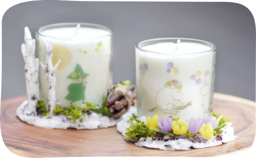 Moominvalley candles