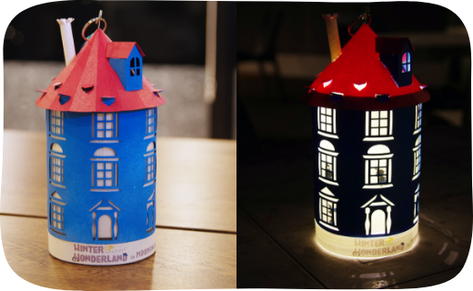 Moominhouse lantern made from paper craft